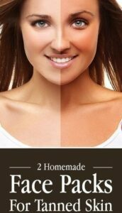 Face pack for tanned skin